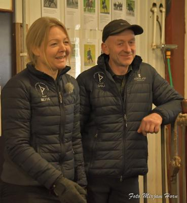 Master Mette and her husband Gisli at the farm Thúfur.
